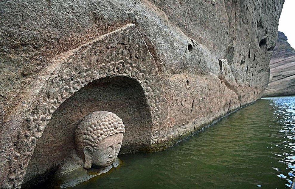 Reaparece un Buda de 600 años de antigüedad.