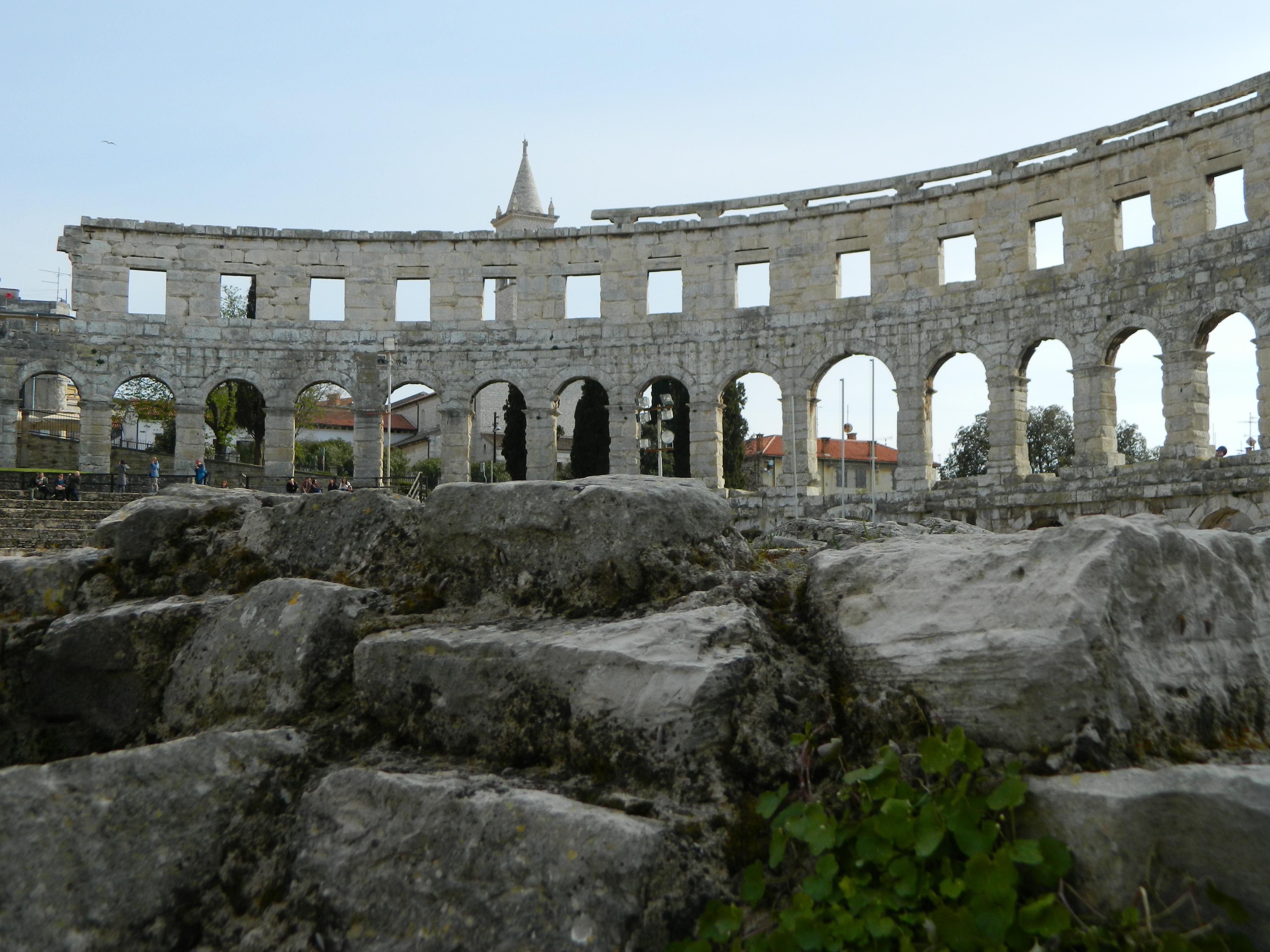 Interior del Anfiteatro de Pula.