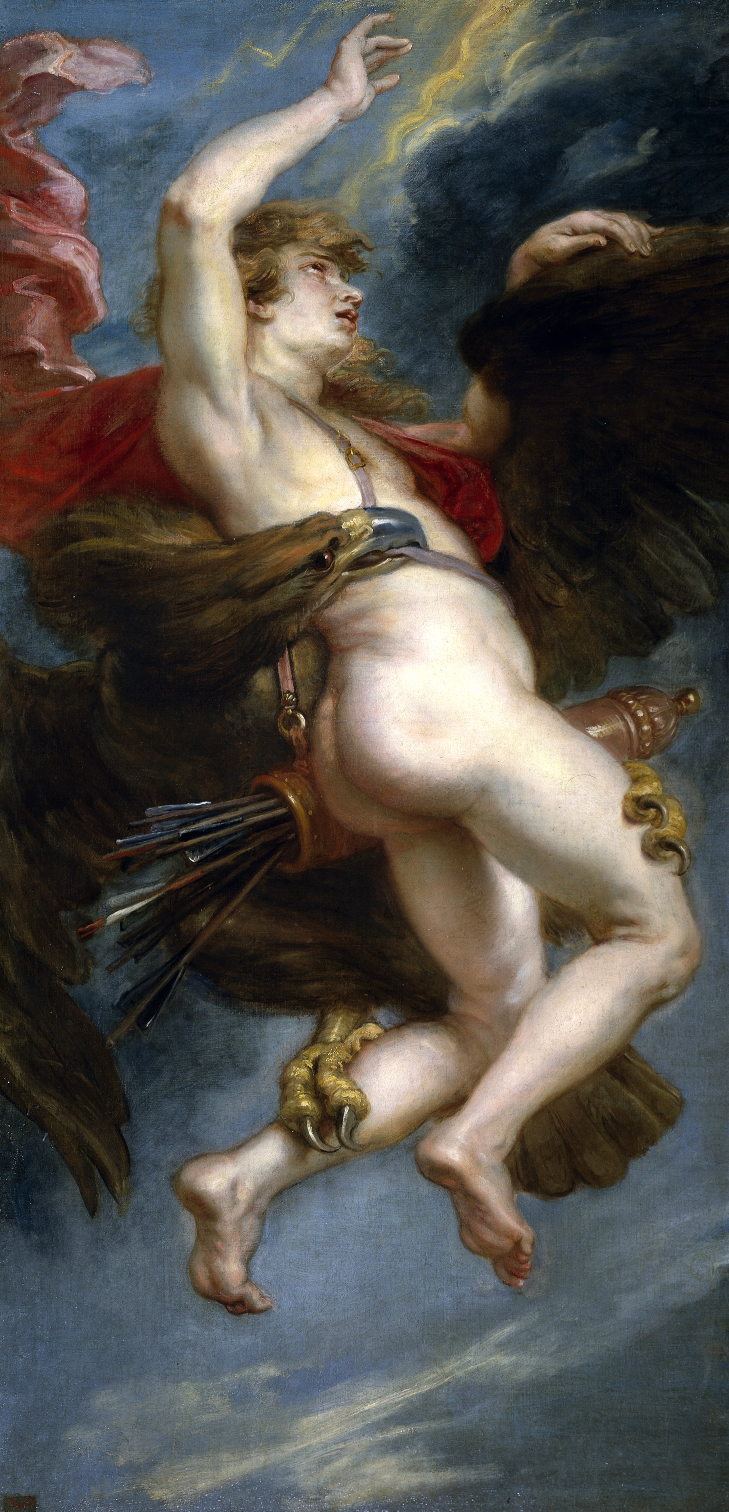 El rapto de Ganímedes 1636 - 1638. Óleo sobre lienzo, 181 x 87,3 cm.