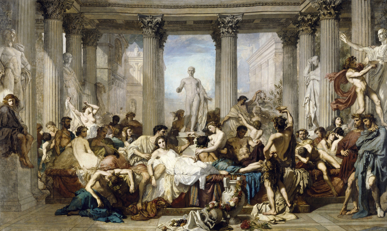 Los romanos de la decadencia, Thomas Couture, 1847.