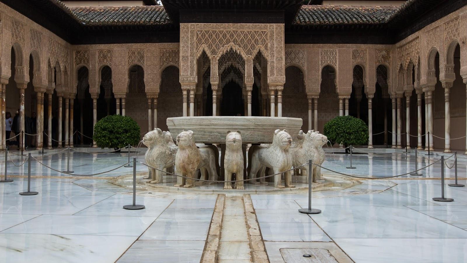 Patio de los leones de la mezquita de Córdoba.