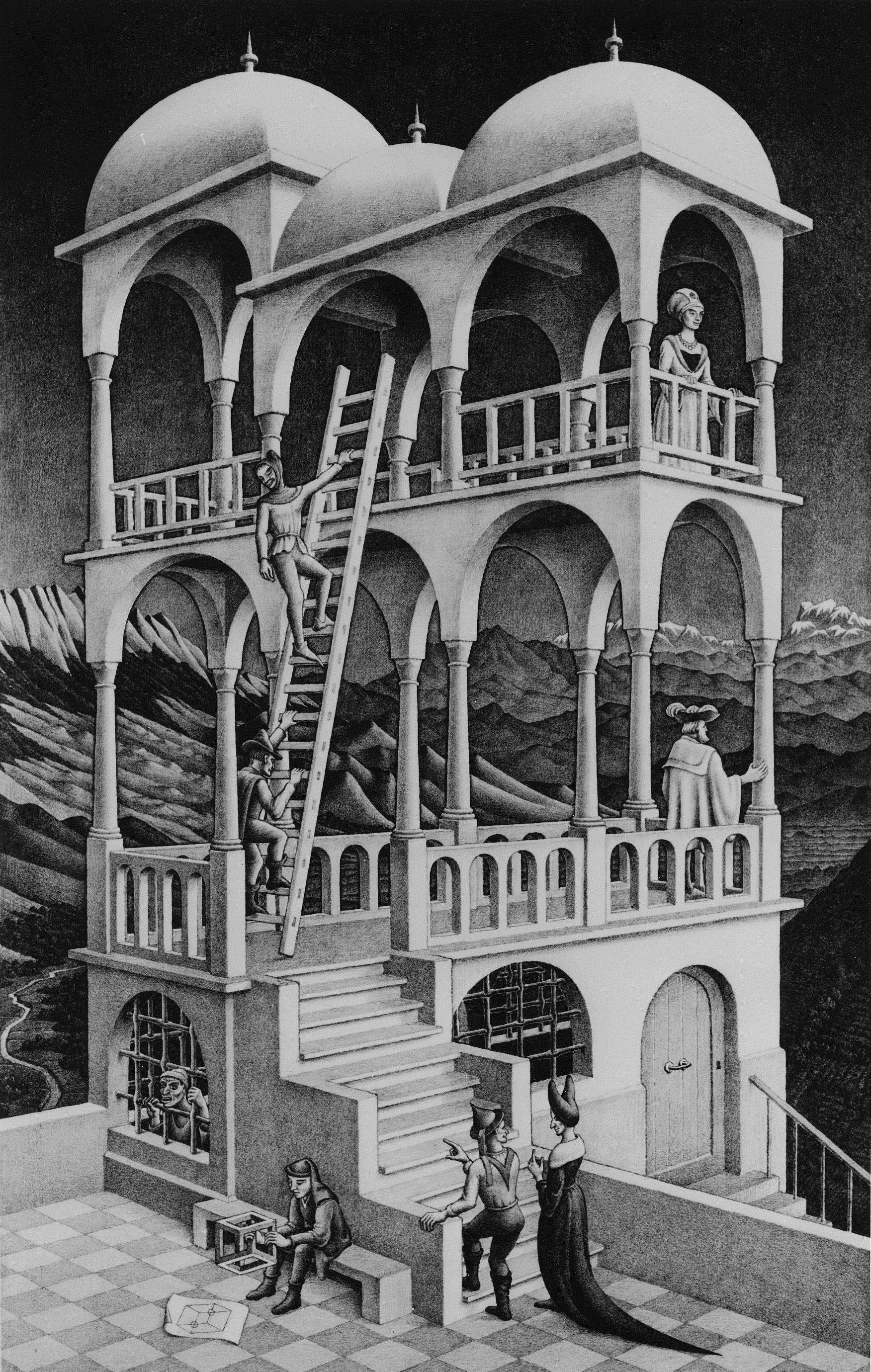 M. C. Escher, Belvedere,1958.