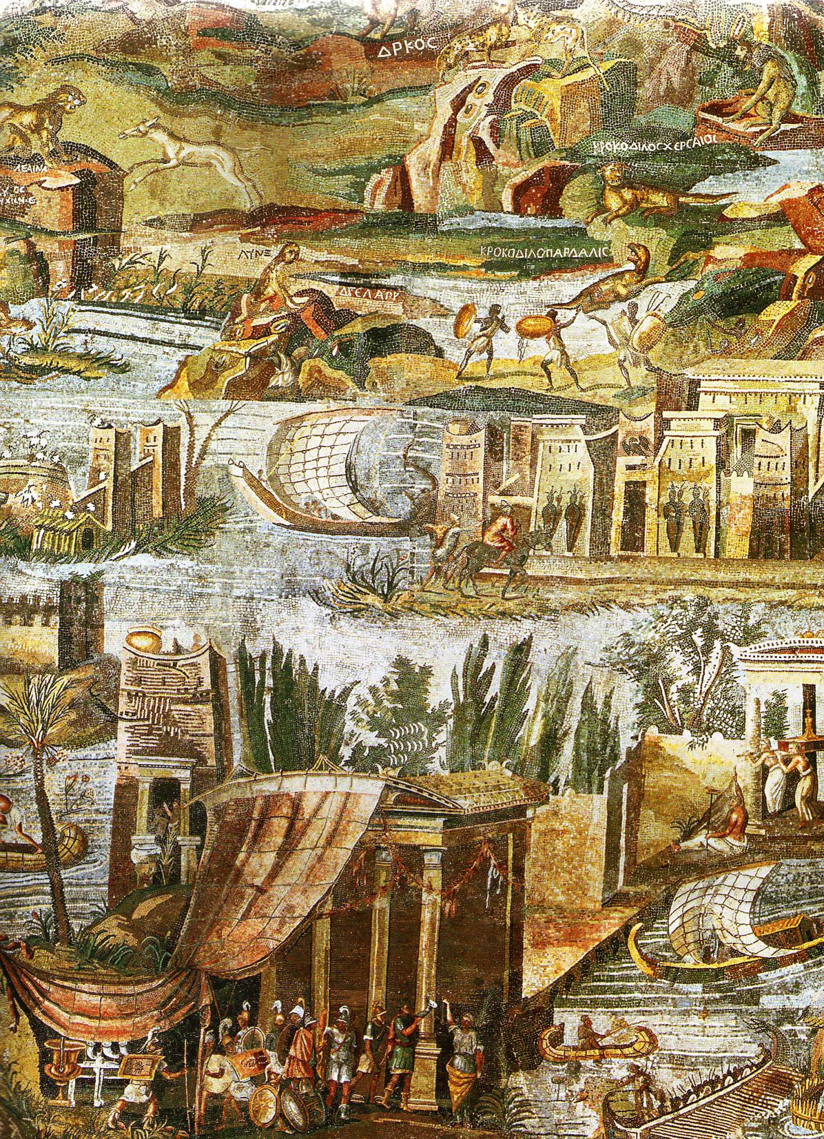 Detalle del Mosaico de Palestrina.