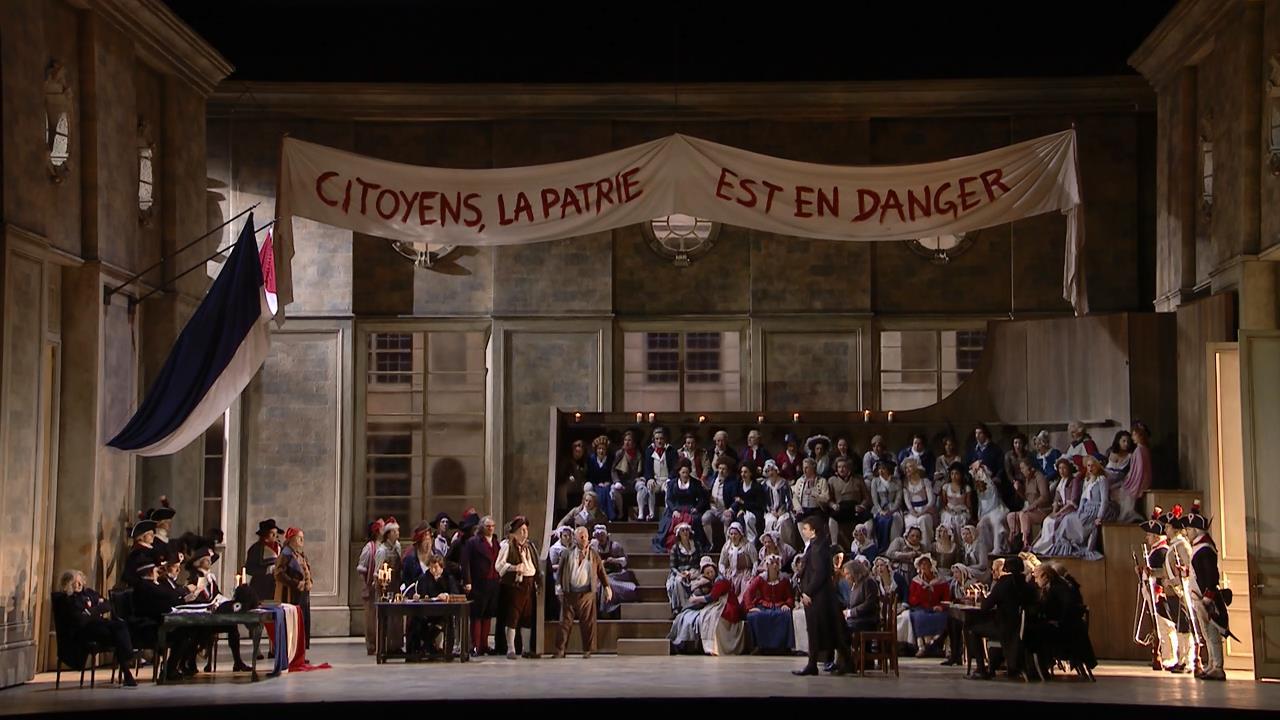 Andrea Chénier en teatro real de la ópera Covent Garden.
