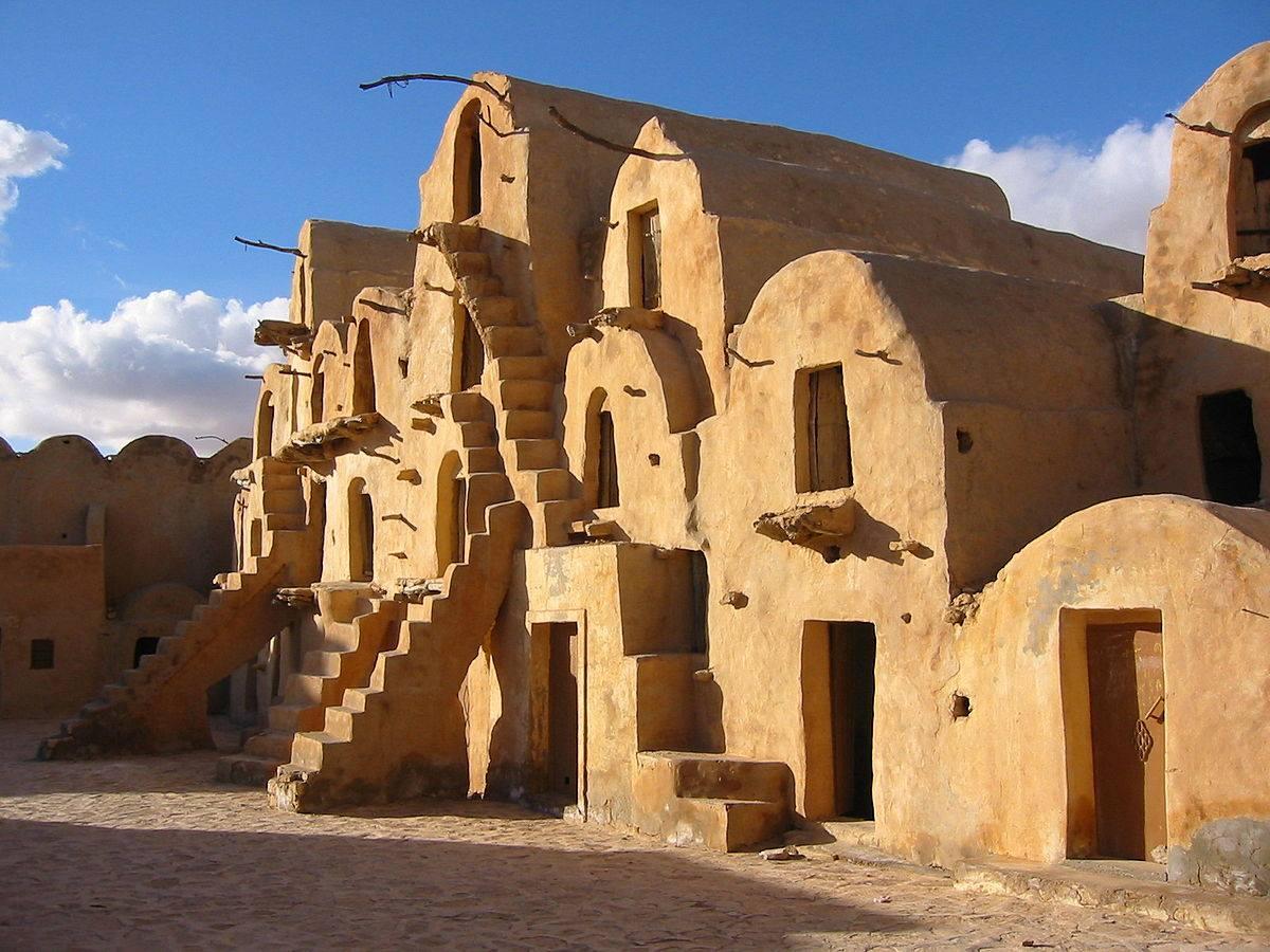 Ksars bereberes en el norte de África.