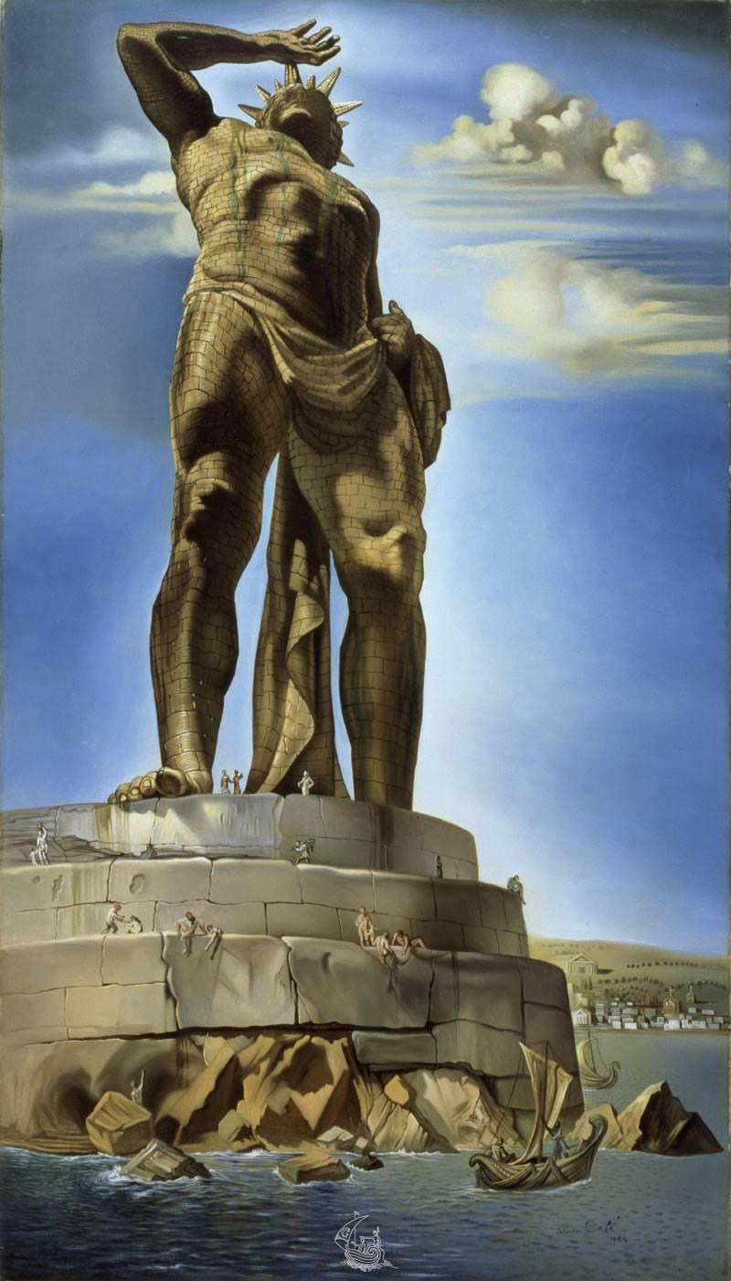 El Coloso de Rodas, Salvador Dalí.