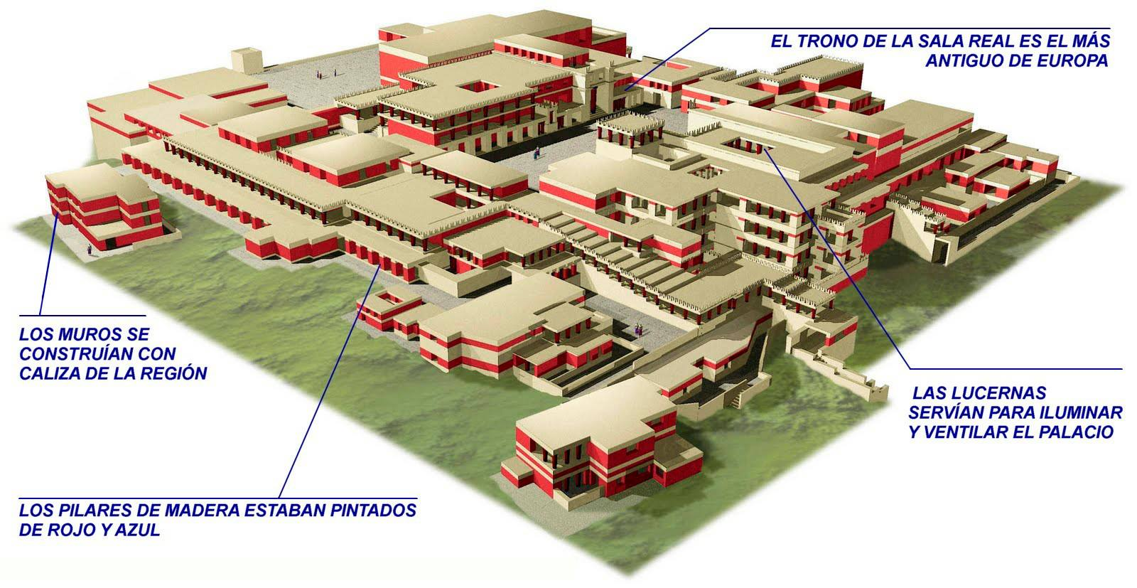 Plano Palacio de Cnosos.