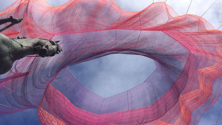 Earth Time, Janet Echelman.