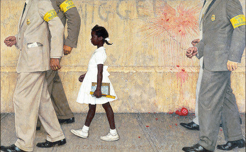"""The Problem We All Live With"", Norman Rockwell, 1964."