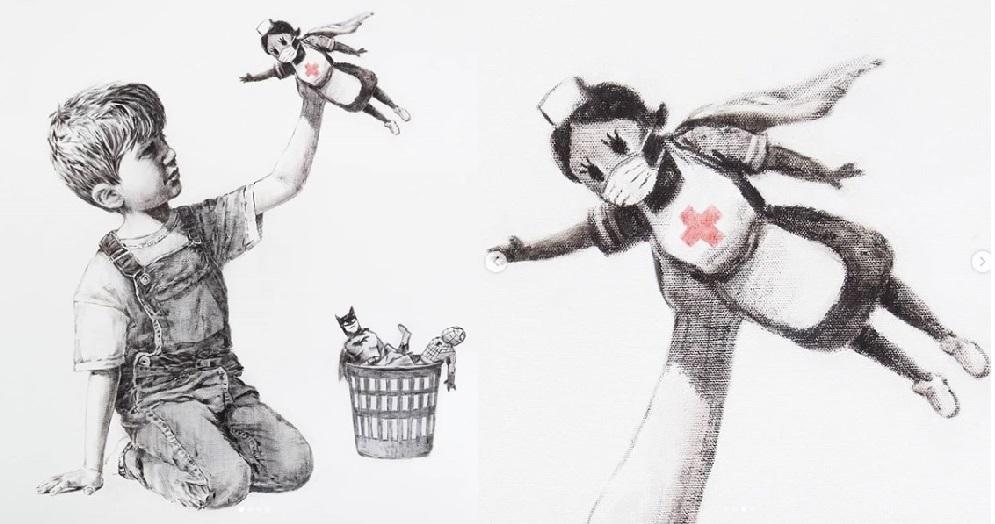 Banksy reaparece en un hospital de Southampton.