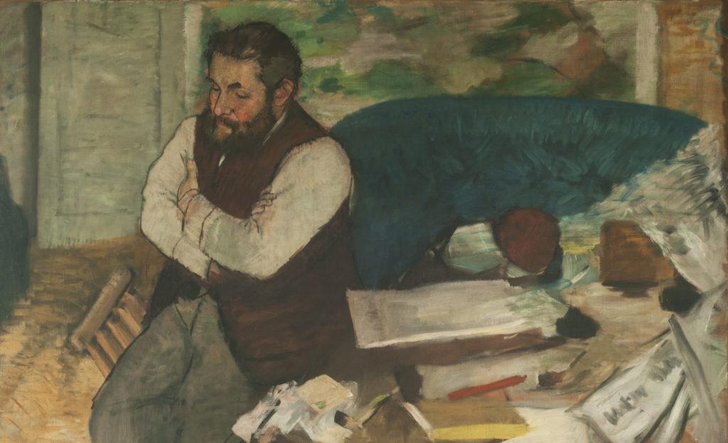 Retrato de Diego Martelli, de Edgar Degas realizado en el 1879.