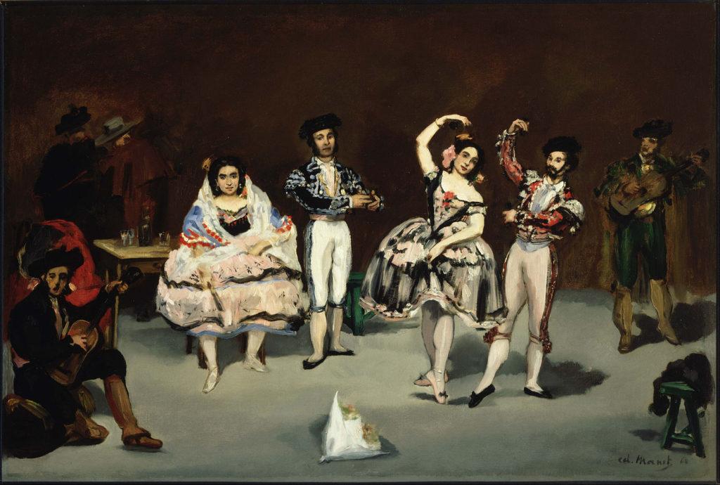 """Édouard Manet (1832-1883) """"El ballet español"""" 1862, Óleo sobre lienzo, 60,1 × 90,5 cm. The Philips Collection, Washington D.C."""