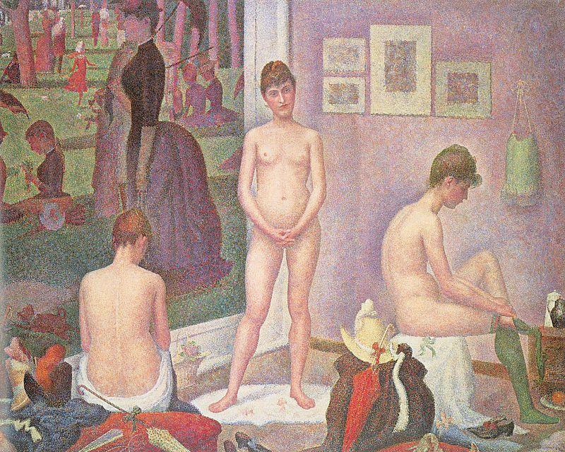 """""""Les Poseuses"""", Georges Pierre Seurat."""