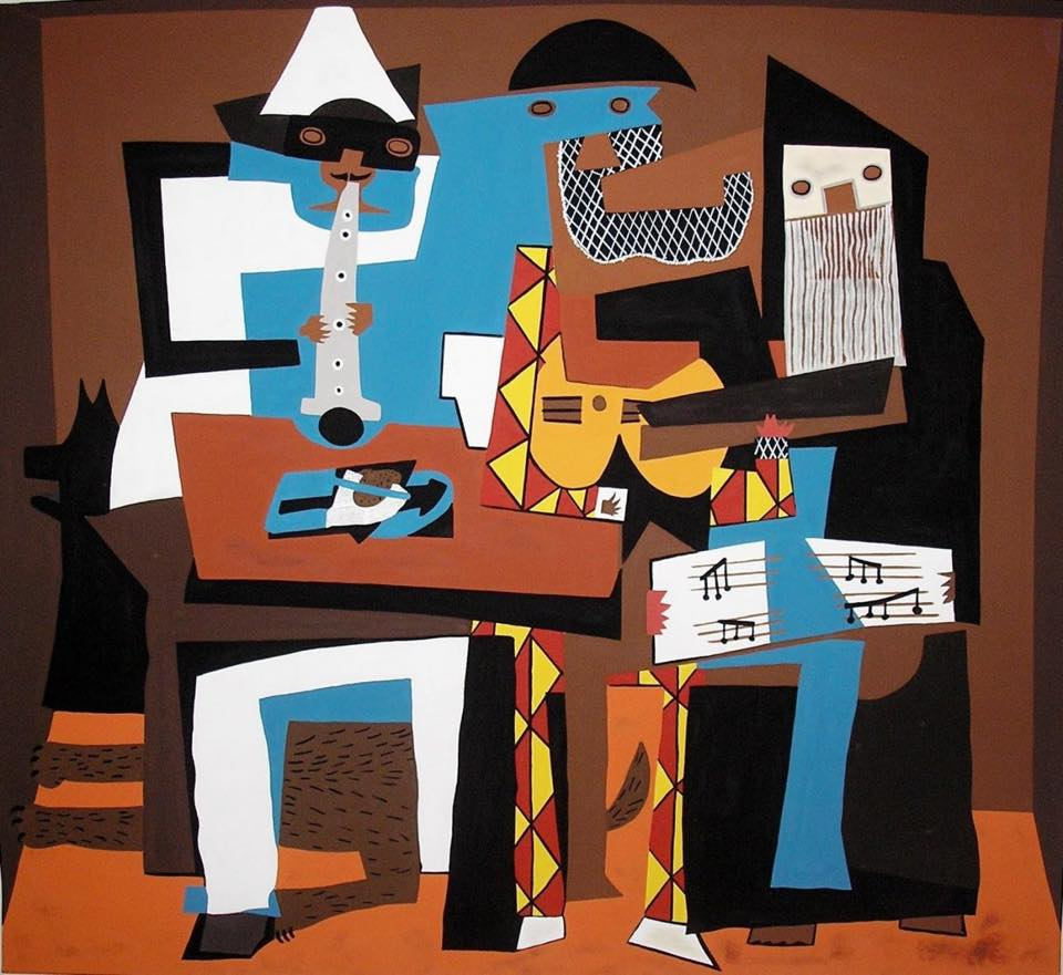 Los tres músicos, Pablo Picasso.